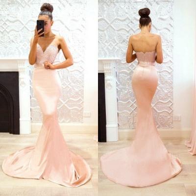 Luxury Sweetheart Lace Prom Dress UK | Mermaid Bridesmaid Dress UK_4