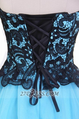 Elegant Sweetheart Sleeveless Cocktail Dress UK With Lace Appliques Lace-up_5