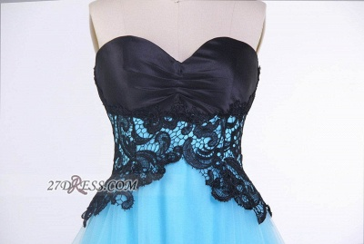 Elegant Sweetheart Sleeveless Cocktail Dress UK With Lace Appliques Lace-up_3