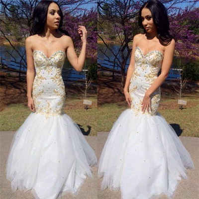 Sweetheart Beadings Prom Dress UK | Mermaid Long Evening Gowns_3