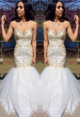 Sweetheart Beadings Prom Dress UK | Mermaid Long Evening Gowns_2