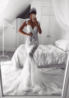 Gorgeous Sweetheart Lace Wedding Dress | 2019 Sexy Mermaid Bridal Gowns_1