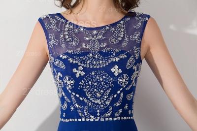 Modern Illusion Chiffon A-line Evening Dress UK Beadings Zipper_2