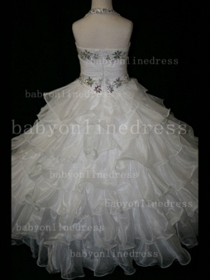 Beaded Cheap Pageant Dresses for Girls Very Online Crystal Organza Floor-length Gowns Stores_3
