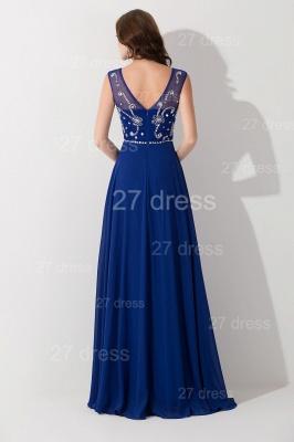 Modern Illusion Chiffon A-line Evening Dress UK Beadings Zipper_3