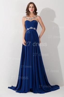 Modern Illusion Chiffon A-line Evening Dress UK Beadings Zipper_1