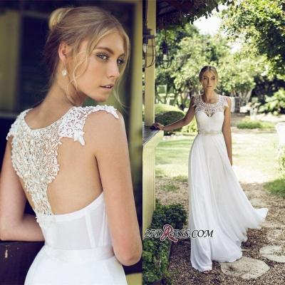 Sleeveless Lace  Long Beach Summer Elegant Wedding Dress_2
