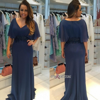 Ruffles chiffon evening Dress UK, simple prom Dress UK online_1
