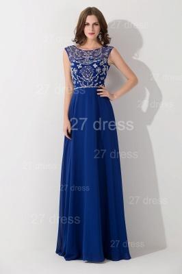 Modern Illusion Chiffon A-line Evening Dress UK Beadings Zipper_5