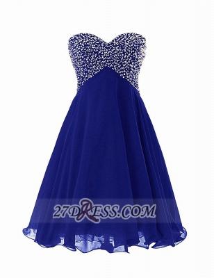 Elegant Sweetheart Sleeveless Short Homecoming Dress UK Lace-up Beadings Crystals Chiffon Cocktail Gown_1