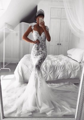 Gorgeous Sweetheart Lace Wedding Dress   2019 Sexy Mermaid Bridal Gowns_1
