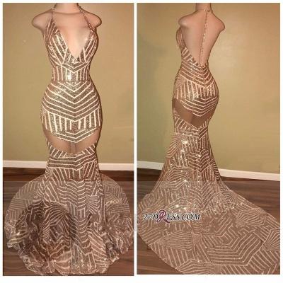Sequins Halter-Neck Sheer Mermaid Backless Prom Dress UKes UK LY163_2