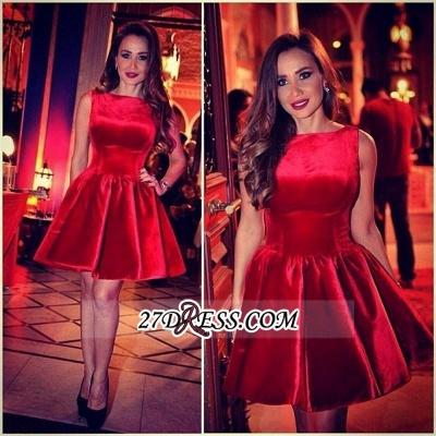Sleeveless Designer Short Elegant Red Homecoming Dress UK_3