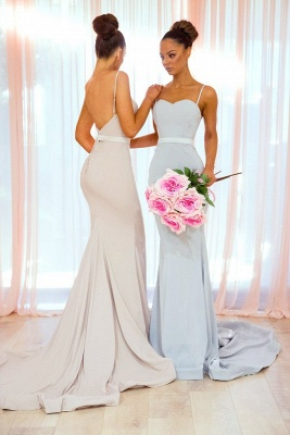 Sexy Spaghetti Straps Bridesmaid Dress UK | Mermaid Long Party Gowns_3