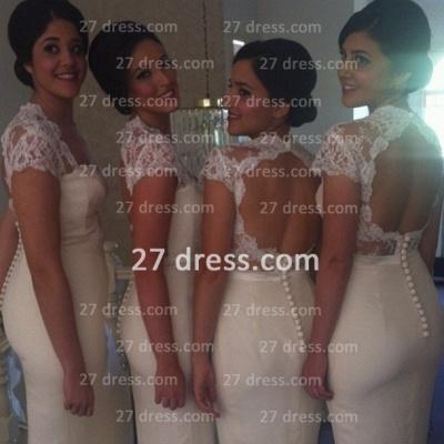 Newest open back lace mermaid prom Dress UK long open back bridesmaid Dress UK_2