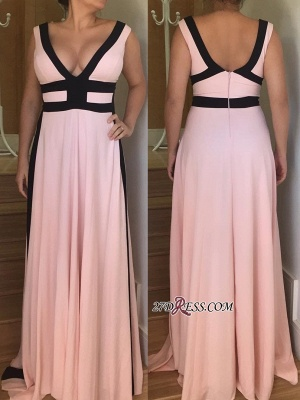 V-neck long prom Dress UK, evening party gowns_2