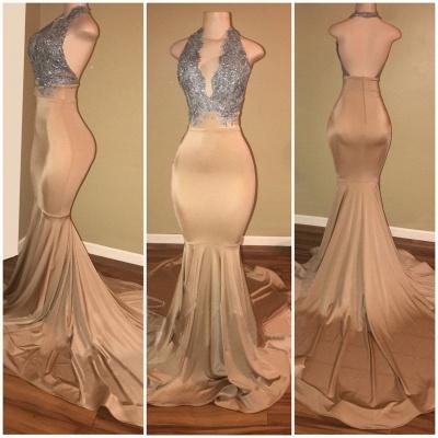 Sexy V-Neck Sleeveless Prom Dress UK Long Mermaid With Sequins BA7774_2