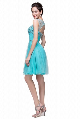 Classic Sleeveless Tulle Short Homecoming Dress UK With Crystals_4