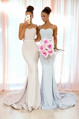 Sexy Spaghetti Straps Bridesmaid Dress UK | Mermaid Long Party Gowns_1