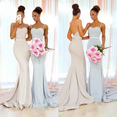 Sexy Spaghetti Straps Bridesmaid Dress UK | Mermaid Long Party Gowns_4