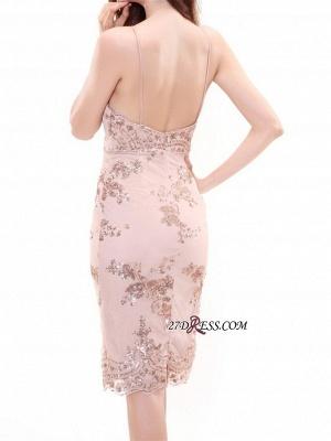 Deep-V-Neck Sheath Spaghettis-Straps Elegant Short Homecoming Dress UKes UK_3