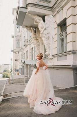 Tulle Lace Floor-Length Gorgeous Princess Cap-Sleeve Appliques Wedding Dress_3