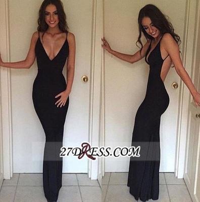 Sexy Backless Straps Sheath V-neck Elegant Summer Evening Dress UK BA3668_1