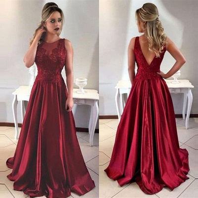 Luxury Sleeveless Long Prom Dress UK A-Line Lace Party Gowns ba7956_4