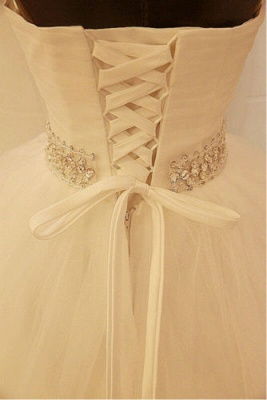 Elegant Sweetheart Sleeveless Ball Gown Wedding Dress With Tulle Lace Beadss_2