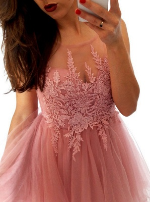 Sexy Sleeveless Short Homecoming Dress UK   Lace Tulle Mini Party Dress UK_6