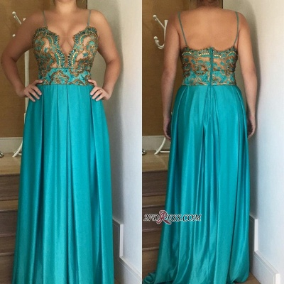 Spaghetti straps long prom Dress UK, women's party Dress UK_1