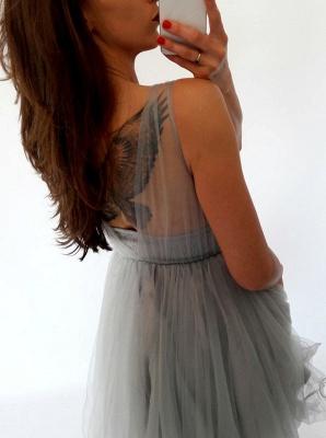 Sexy Sleeveless Short Homecoming Dress UK   Lace Tulle Mini Party Dress UK_4