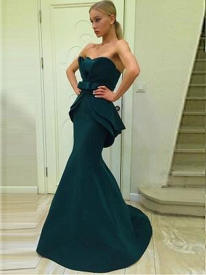 Sexy Green Designer Ruffles Evening Dress UK Mermaid Long On Sale BA7470_1