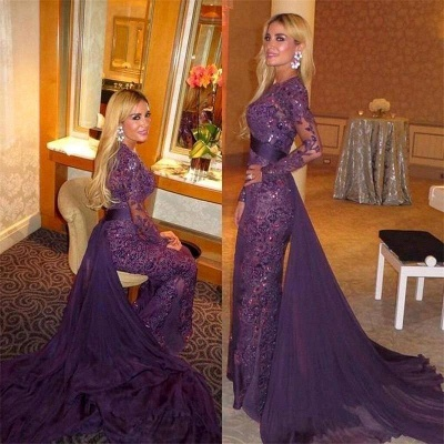Luxury Long Sleeve Evening Dress UK Ruffles Sequins Prom Party Dress UK_3