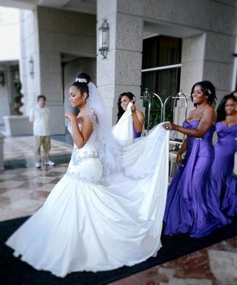 New Arrival Sweetheart Sexy Mermaid Wedding Dresses UK Crystal On Sale_4