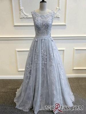 Long A-line Lace-Appliques Backless Sleeveless Prom Dress UKes UK BA5343_2