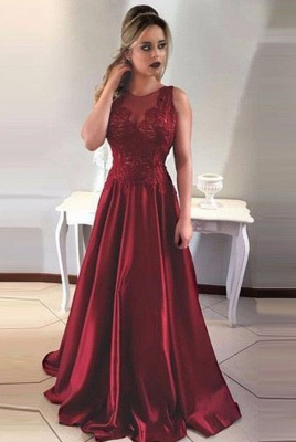 Luxury Sleeveless Long Prom Dress UK A-Line Lace Party Gowns ba7956_1