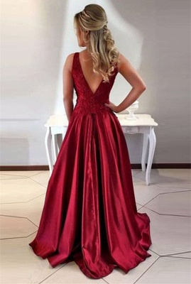 Luxury Sleeveless Long Prom Dress UK A-Line Lace Party Gowns ba7956_3