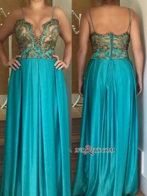 Spaghetti straps long prom Dress UK, women's party Dress UK_2