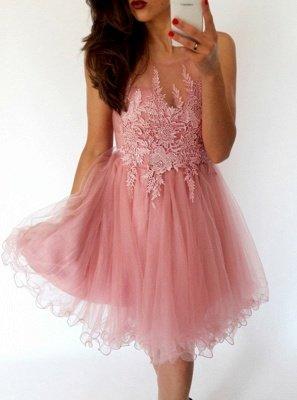 Sexy Sleeveless Short Homecoming Dress UK   Lace Tulle Mini Party Dress UK_3