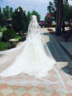Elegant Sexy Mermaid Long Sleeves Lace Wedding Dresses UK Scoop Neckline Appliques Detachable Skirt Bridal Gowns_3