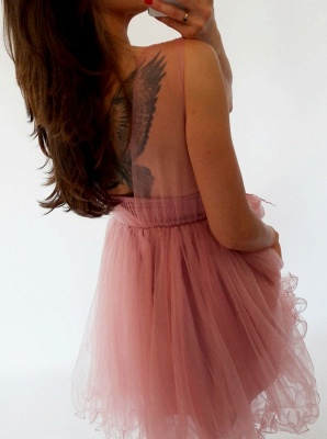 Sexy Sleeveless Short Homecoming Dress UK   Lace Tulle Mini Party Dress UK_5