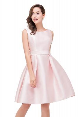 Lovely Pink Sleeveless Short Homecoming Dress UK Zipper Back_2