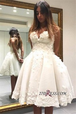 Lace Appliques Sweetheart Short Charming Homecoming Dress UK_3