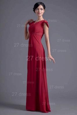Sexy Cap Sleeve Chiffon Evening Dress UK A-line Floor-length_1