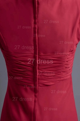 Sexy Cap Sleeve Chiffon Evening Dress UK A-line Floor-length_3