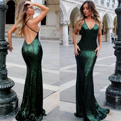 Open Back Sexy Formal Evening Dresses Cheap| Mermaid Sequins Prom Dress UK BA3586_6