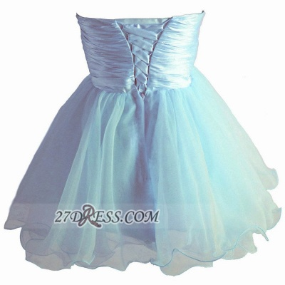 Lovely Sweetheart Sleeveless Short Homecoming Dress UK Beadings Pearls Bowknot Lace-up Cocktail Gown_2