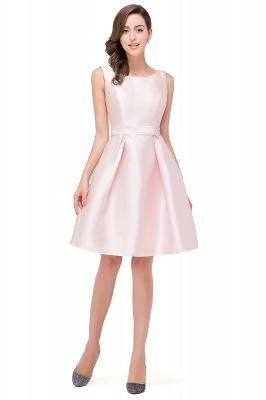 Lovely Pink Sleeveless Short Homecoming Dress UK Zipper Back_6