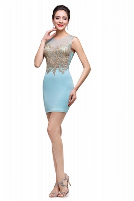 Sexy Sleeveless Short Homecoming Dress UK With Golden Appliques_6
